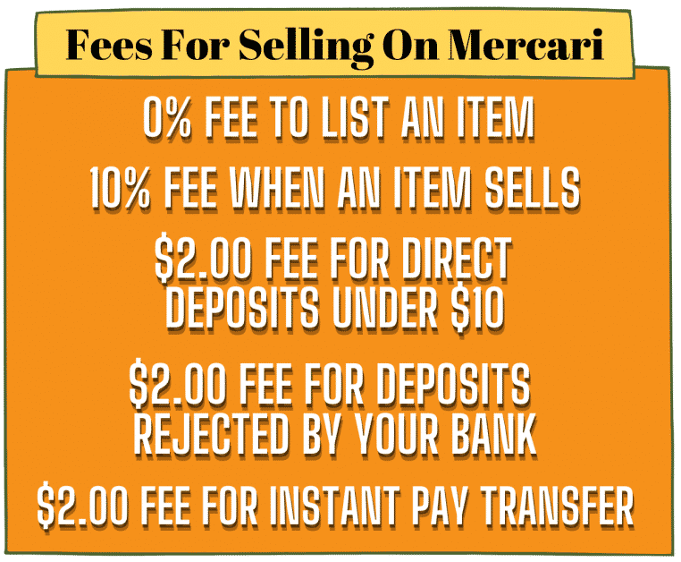 Fees For Selling On Mercari Image